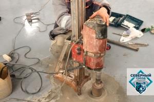 Отбор кернов бетона и асфальтобетона