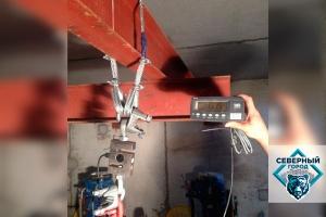 Испытание лифтовых петель и балок