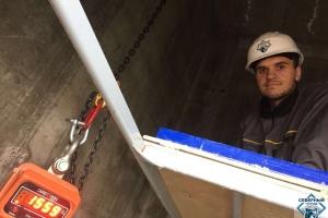 Испытание лифтовых петель нагрузкой до 2 т