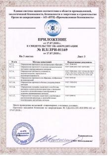 Свидетельство об аккредитации ООО «ИЛ Северный город»